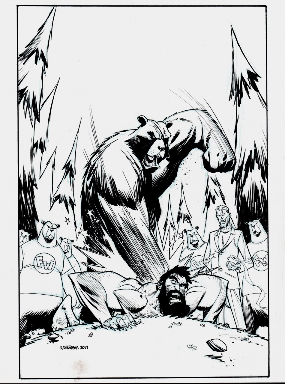 Shirtless Bear-Fighter #3 Cover (IMAGE COMICS) 2017