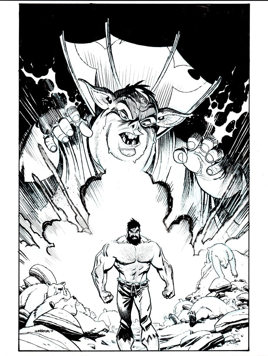 Shirtless Bear-Fighter #2 Cover (IMAGE COMICS) 2017
