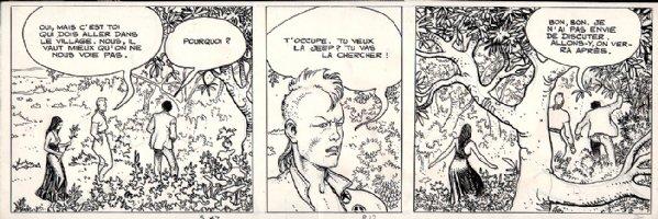 African Adventure Of Giuseppe Bergman Strip (1982) Comic Art