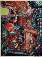 Junkwaffel #1 Painted Cover (HUGE!) 1969 Comic Art