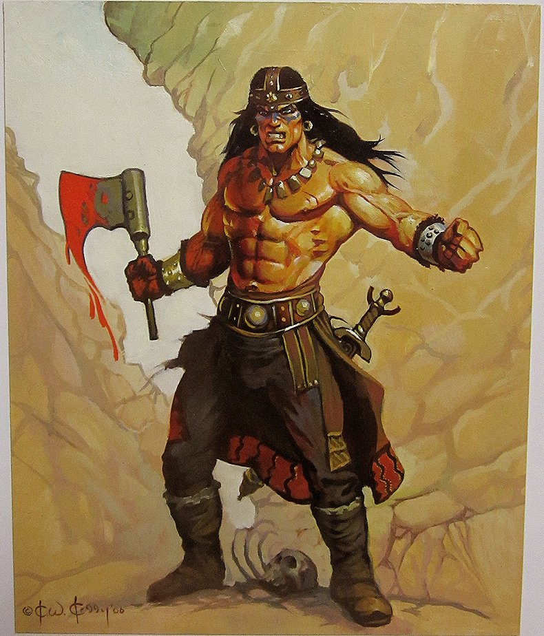 Conan Painting For Card Set (2006)