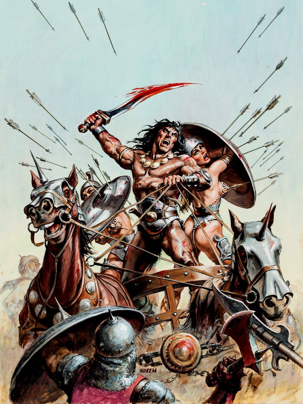 Savage Sword of Conan #90 Cover Painting (Very Large) 1983