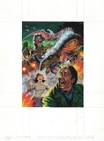 Dinosaurs Attack! #5 Cover Painting Comic Art