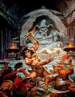 Savage Sword of Conan #95 Cover Painting (1983) Comic Art