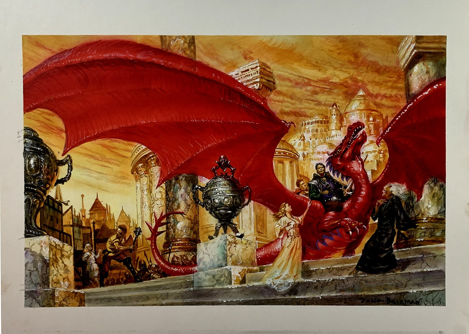 'Wizard's First Rule' Super Detailed Mock Up Cover Painting (1994)