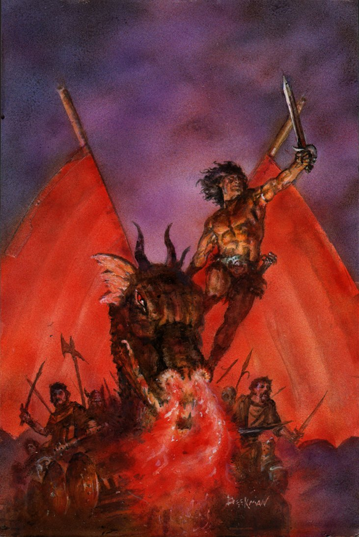 Marvel Graphic Novel: Conan Cover Painting Mockup