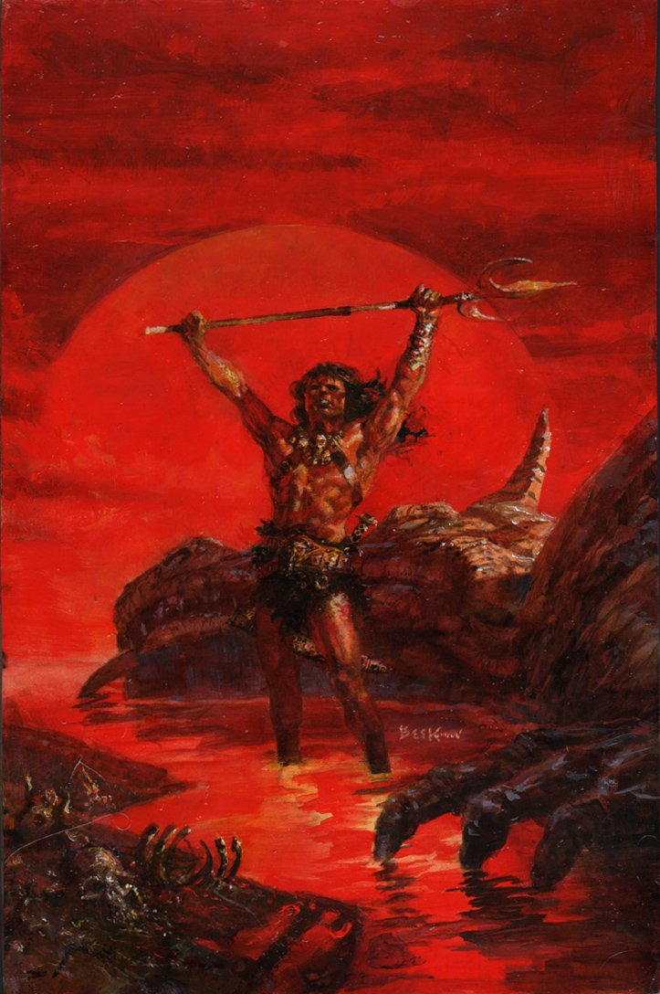 Savage Sword Of Conan #149 Cover Painting Mockup