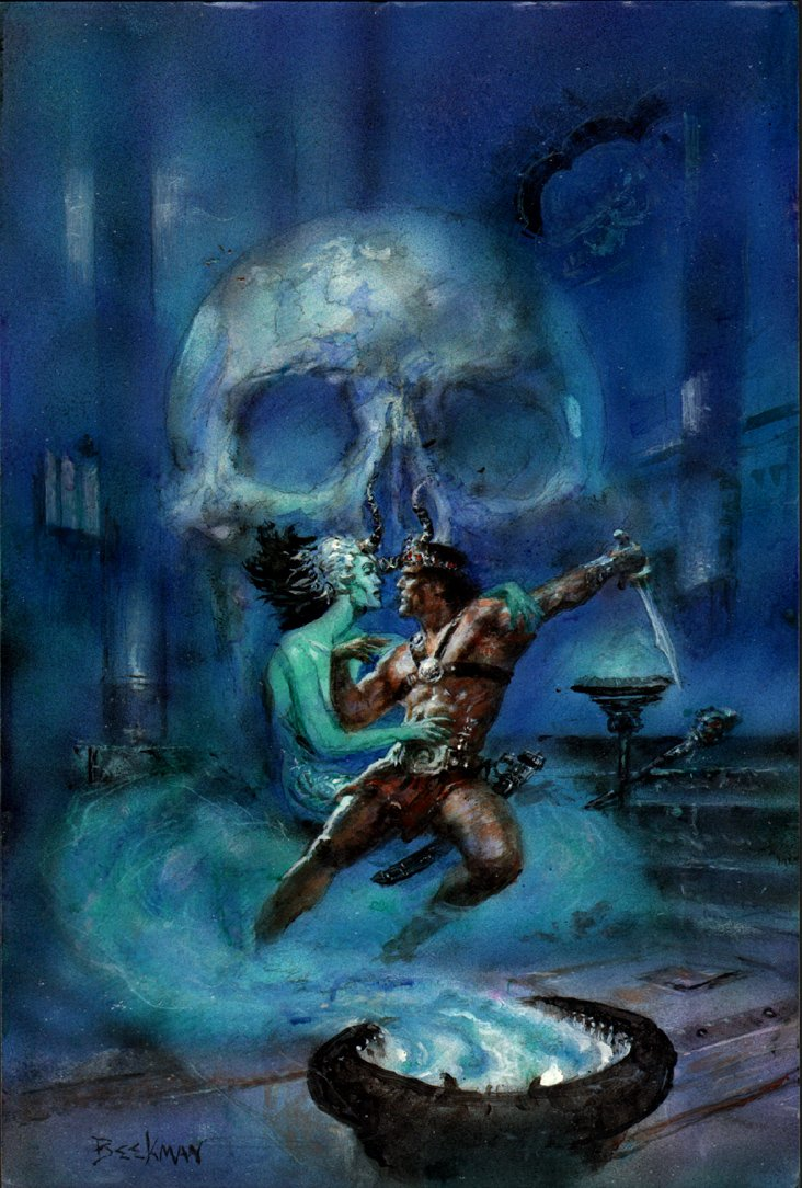 Marvel Graphic Novel: Kull Cover Painting Mockup