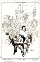 Thunderbolts: Life Sentences  Issue 1 Page Cover (2001) Comic Art