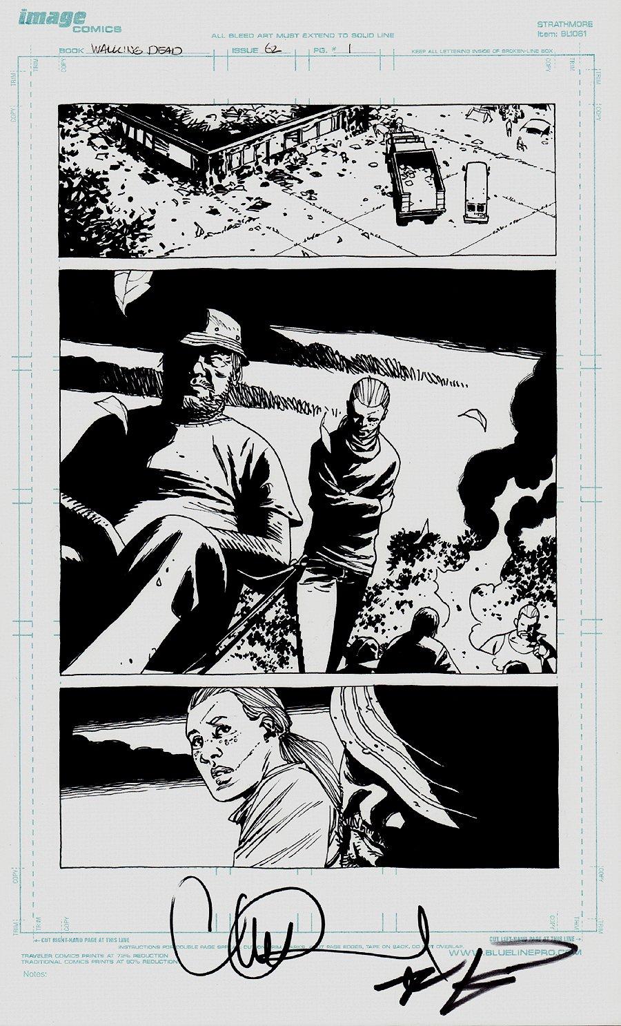 The Walking Dead #62 p 1 SPLASH (2009)