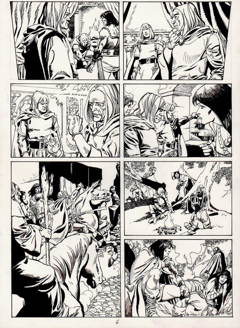 Conan European Comic Book Art Page 6