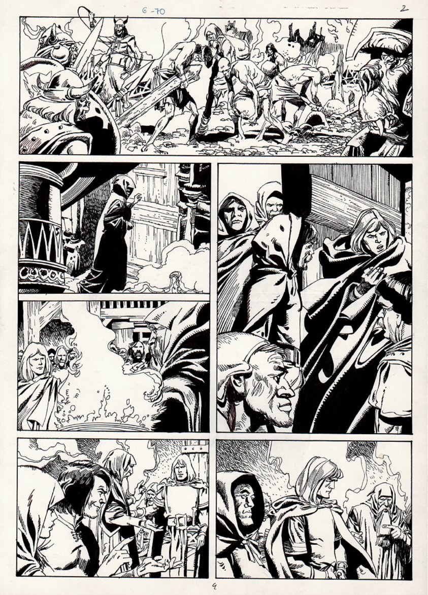Conan European Comic Book Art Page 9