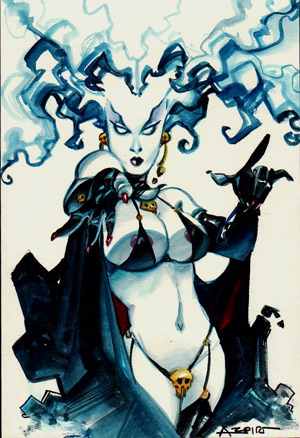 Lady Death Mixed Media Pinup