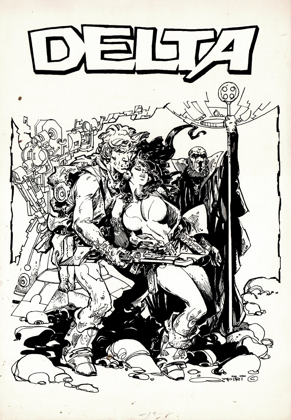 DELTA #28 Cover (Large Art) 1980s