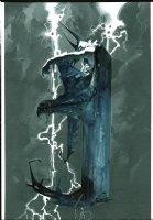 Batman Painting (Larger) Comic Art