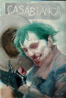 Joker / Ingrid Bergman LIPS Pinup Comic Art