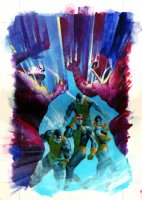 X-Men: Children of the Atom #6 Cover Painting (Large Art) Comic Art
