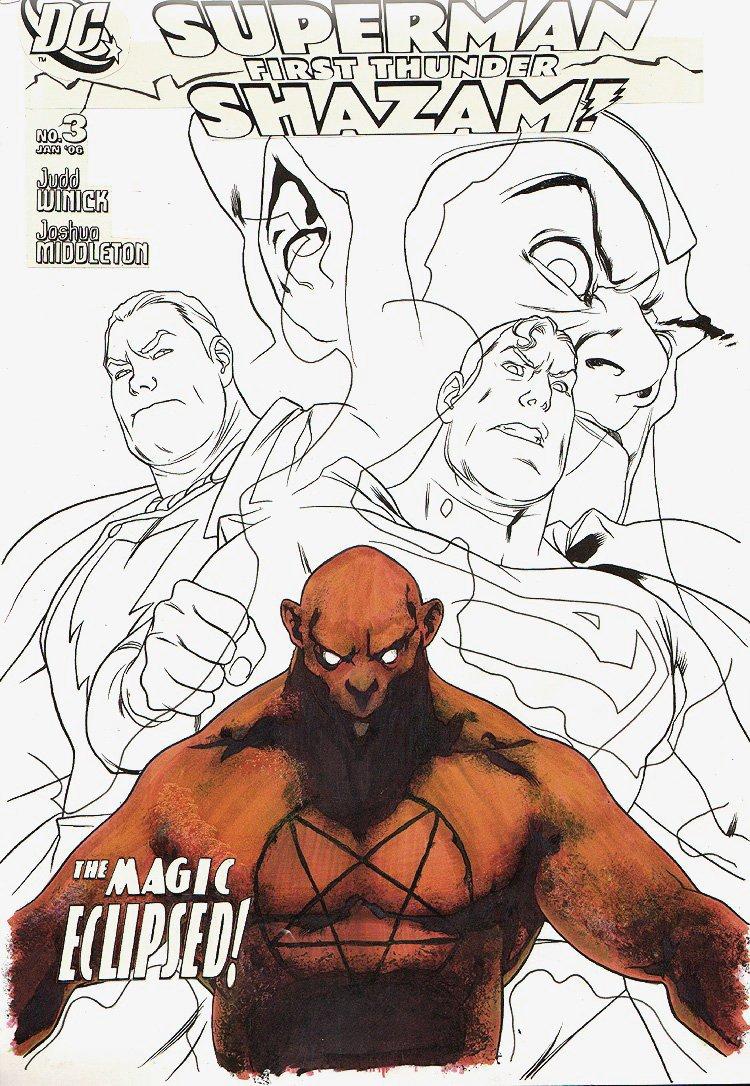 Superman / Shazam: First Thunder #3 Cover (2005)