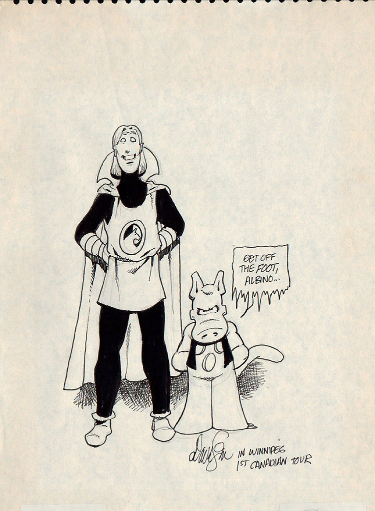 Cerebus And Elrod Early Pinup