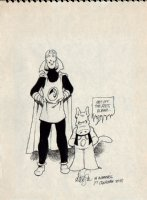 Cerebus And Elrod Early Pinup Comic Art