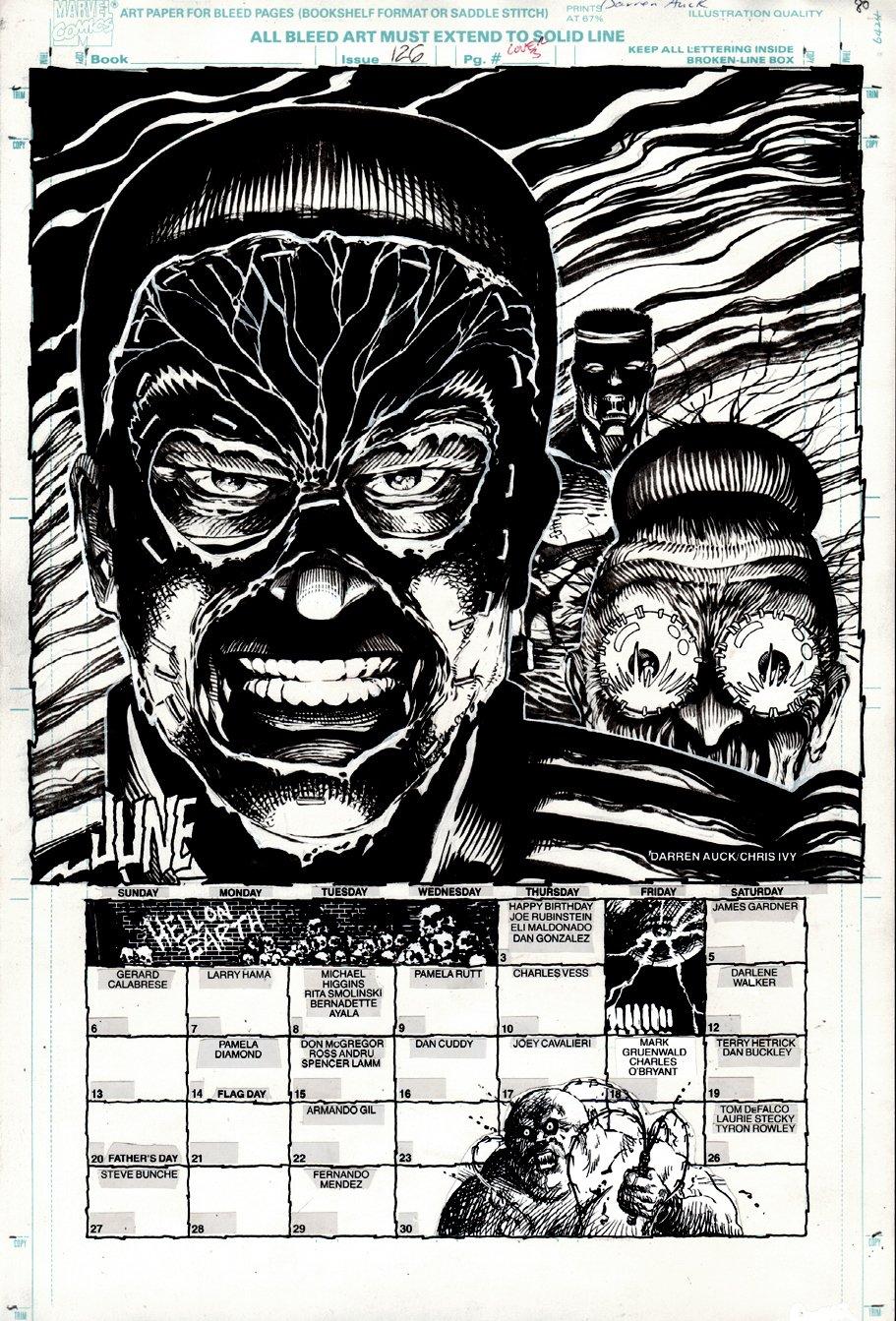 Marvel Age #126 Inside Back Cover (1993)