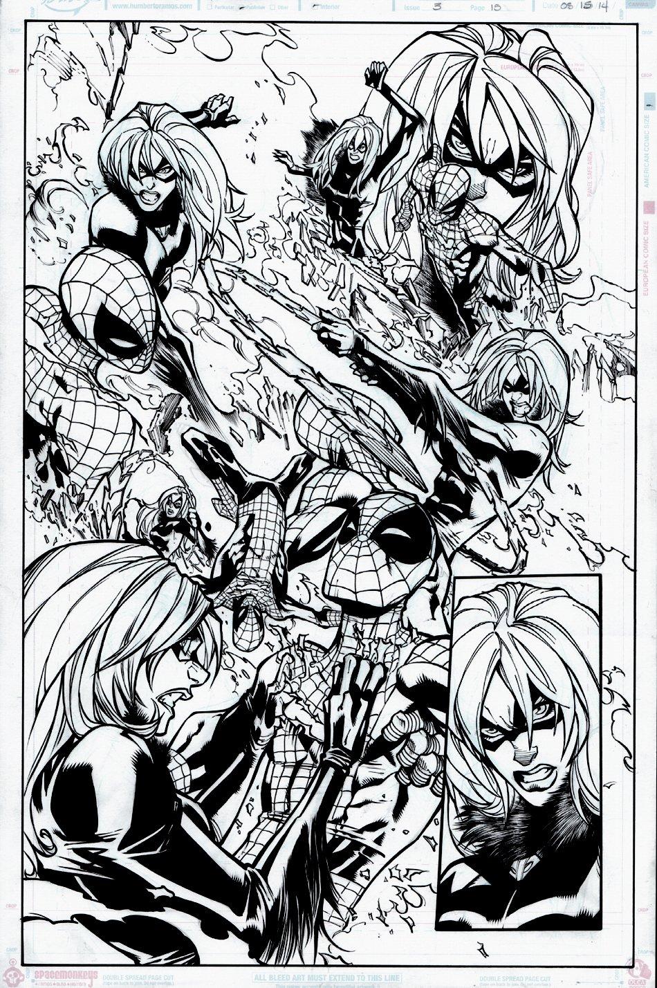 Amazing Spider-Man #3 p 15 SPLASH (Spider-Man Battling Black Cat) 2014