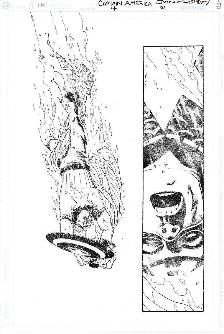 Captain America #4 p 21 SPLASH (2002)