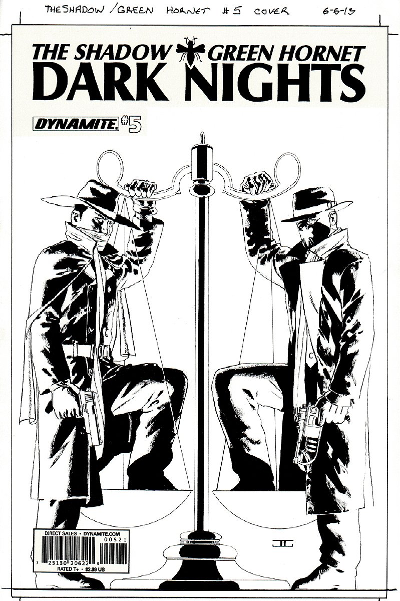 The Shadow / Green Hornet: Dark Nights #5 Cover
