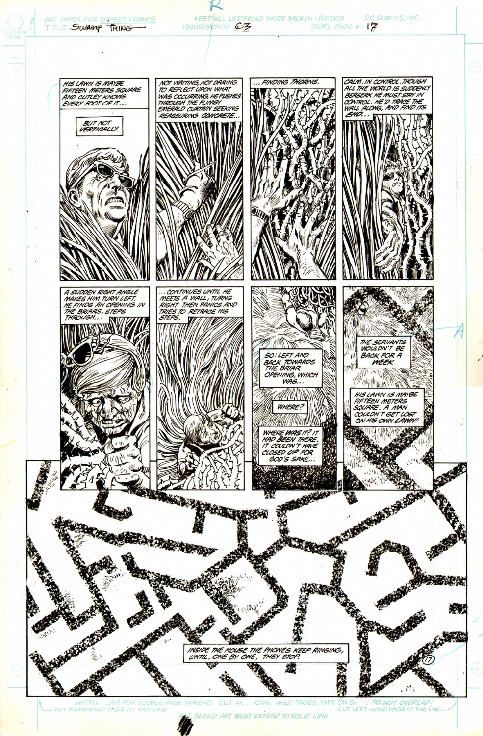 Swamp Thing #63 p 17 (Large Art) 1987