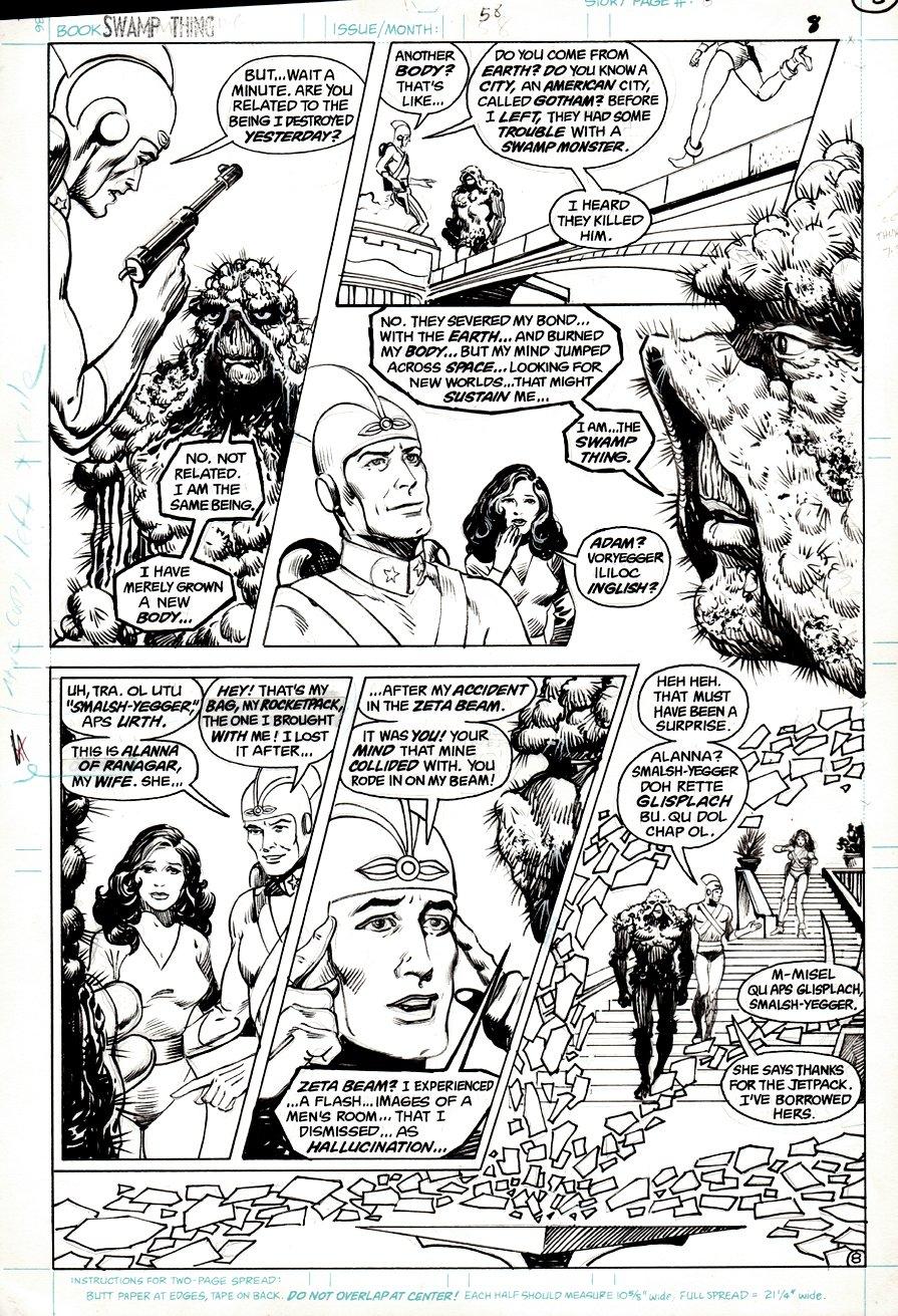 Swamp Thing #58 p 8 (1986)