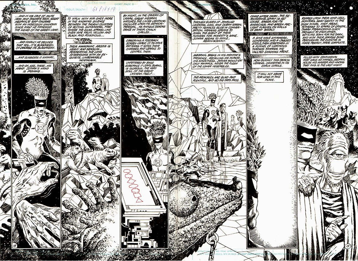 Swamp Thing #61 p 18-19 Double Page Spread (1987)