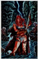 Red Sonja: Deluge #1 Painted Cover (2010) Comic Art
