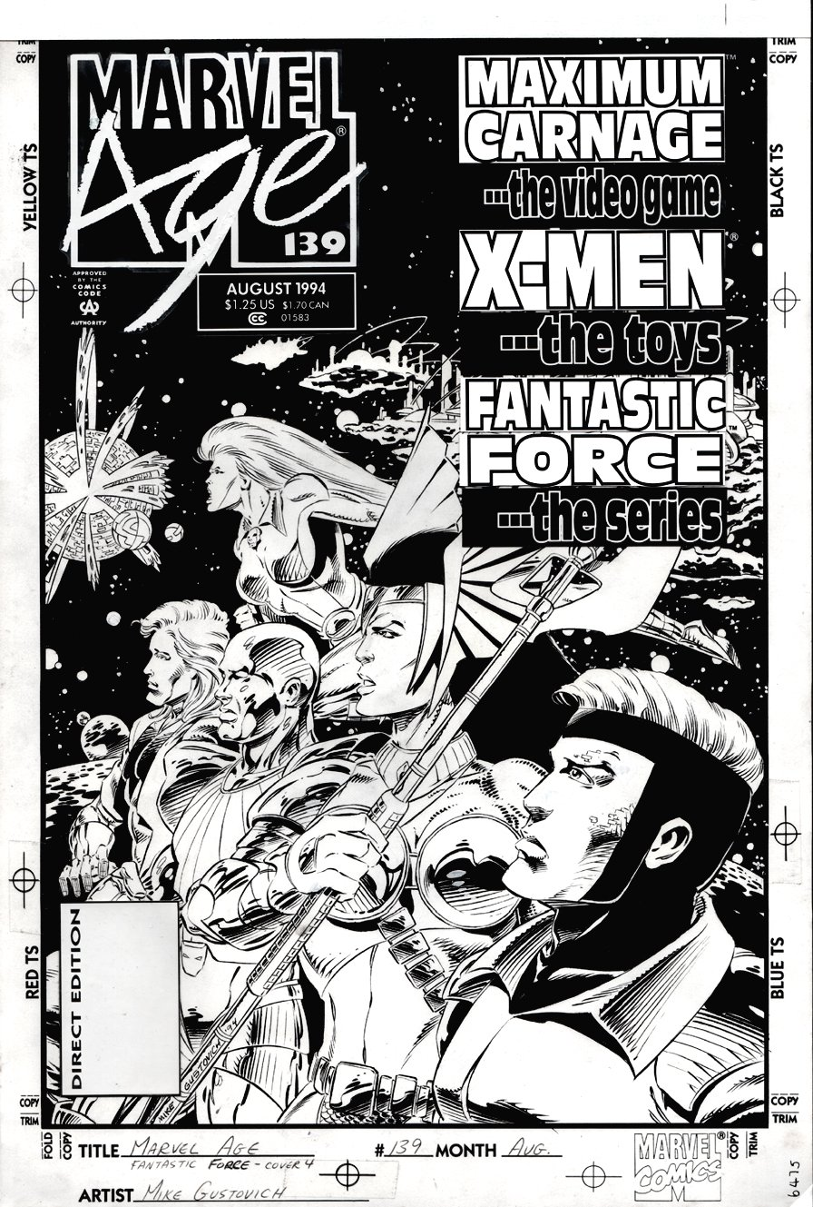 Marvel Age #139 Cover (VERY FIRST FANTASTIC-FORCE APPEARANCE) 1994