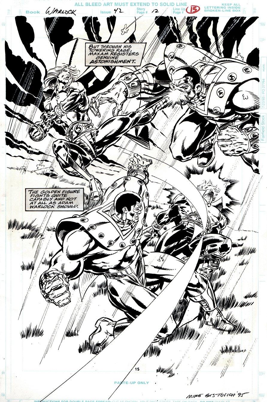 Warlock and the Infinity Watch #42 p 12 SPLASH (LAST ISSUE) 1995