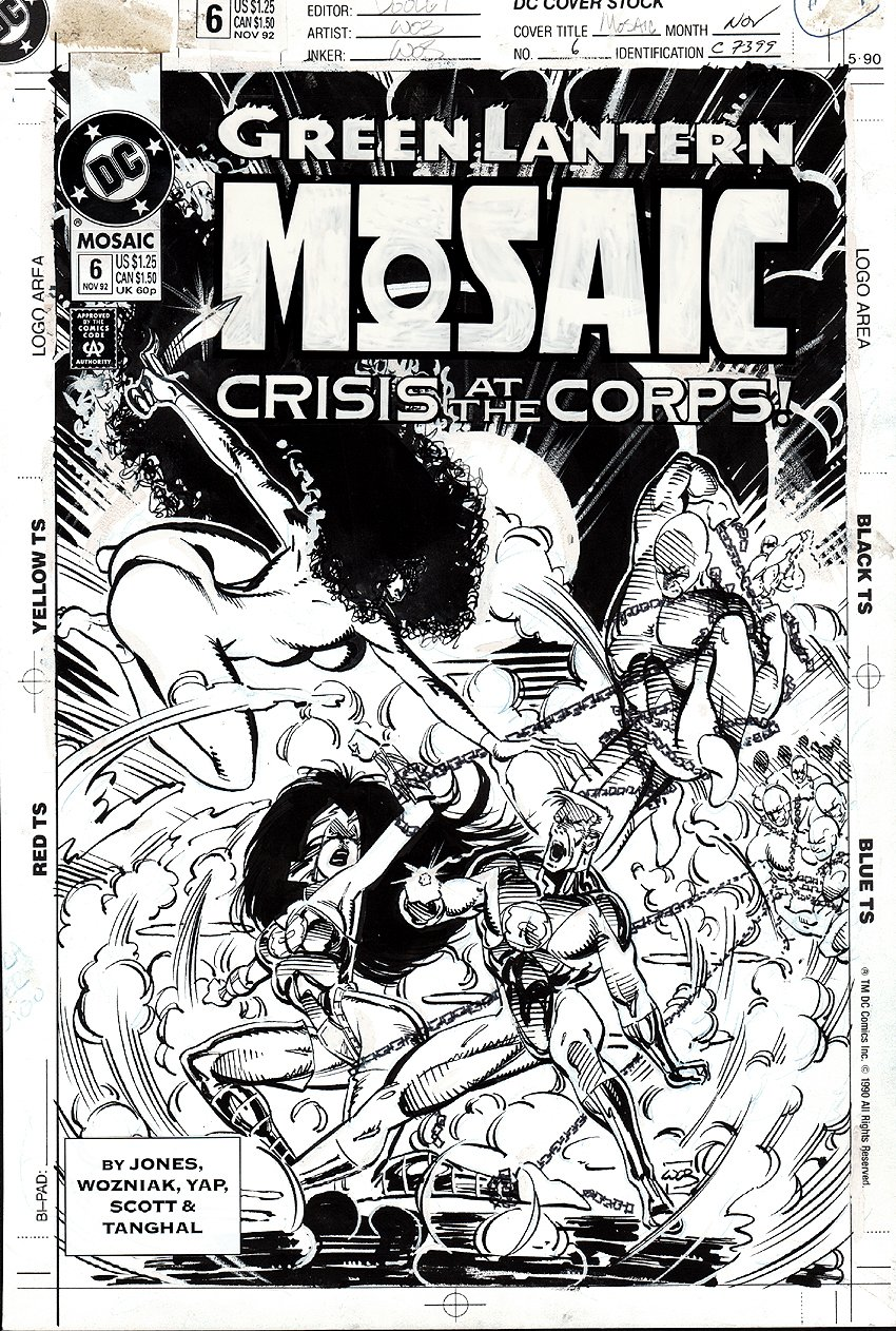 Green Lantern: Mosaic #6  Cover (1992)