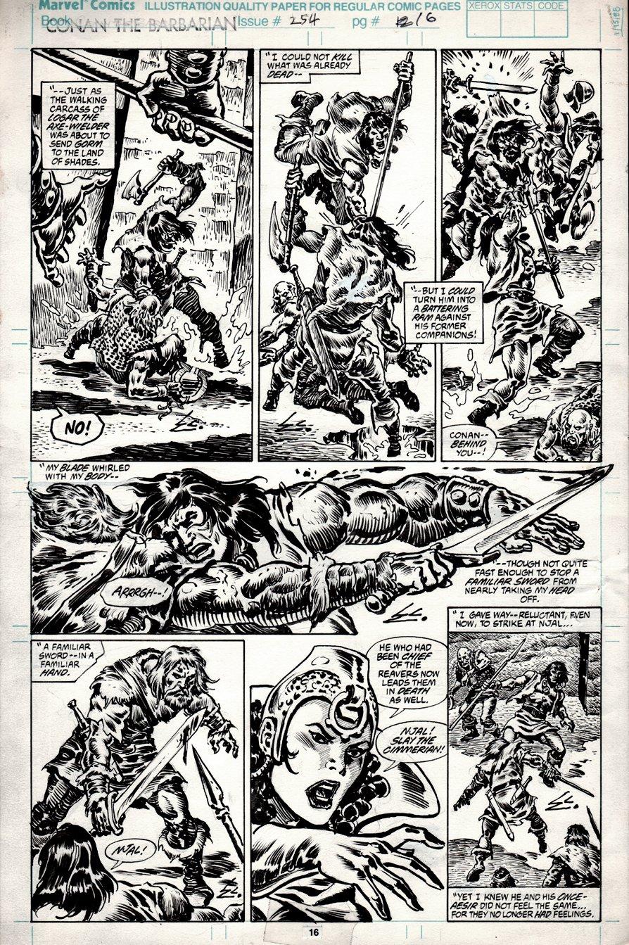 Conan the Barbarian #254 p 16 (1991)