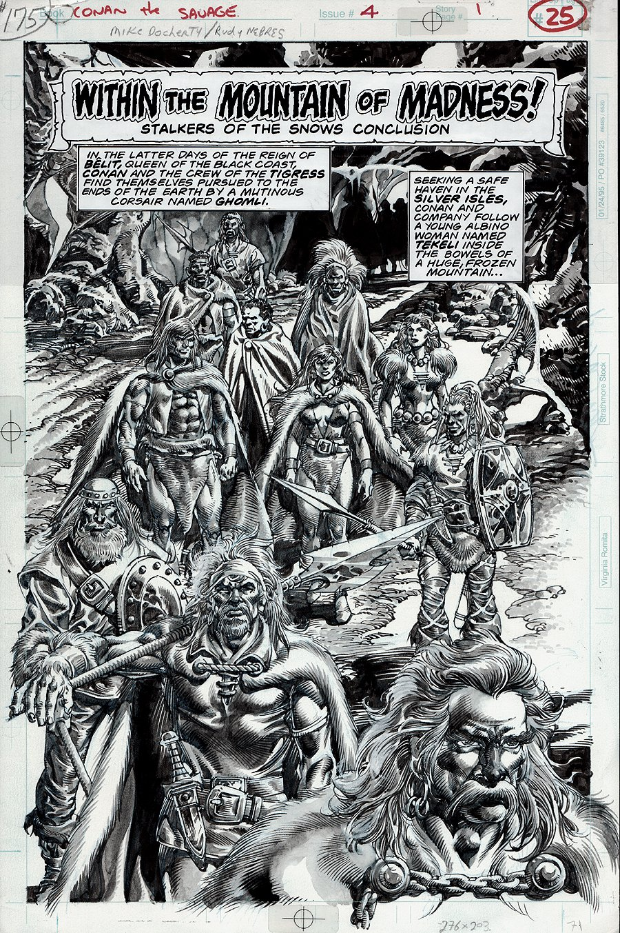 Conan The Savage #4 p 1 SPLASH (1995)