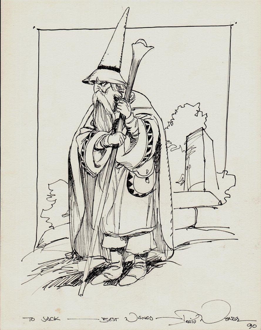 Gandalf Full Body Pinup (1990)