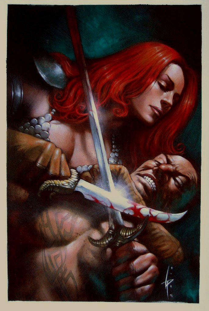 Red Sonja #4 Painted Cover (2011)