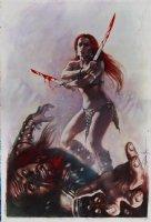 Red Sonja: Revenge of the Gods #1 Cover Painting (Large) 2010 Comic Art