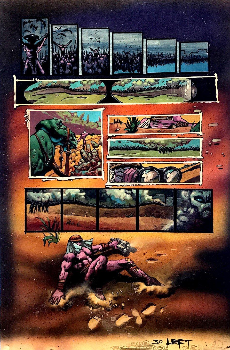 Melting Pot graphic Novel p 30 Painting (Large Art) 1994