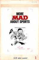 More Mad About Sports Book FRONTIS page (1977) Comic Art