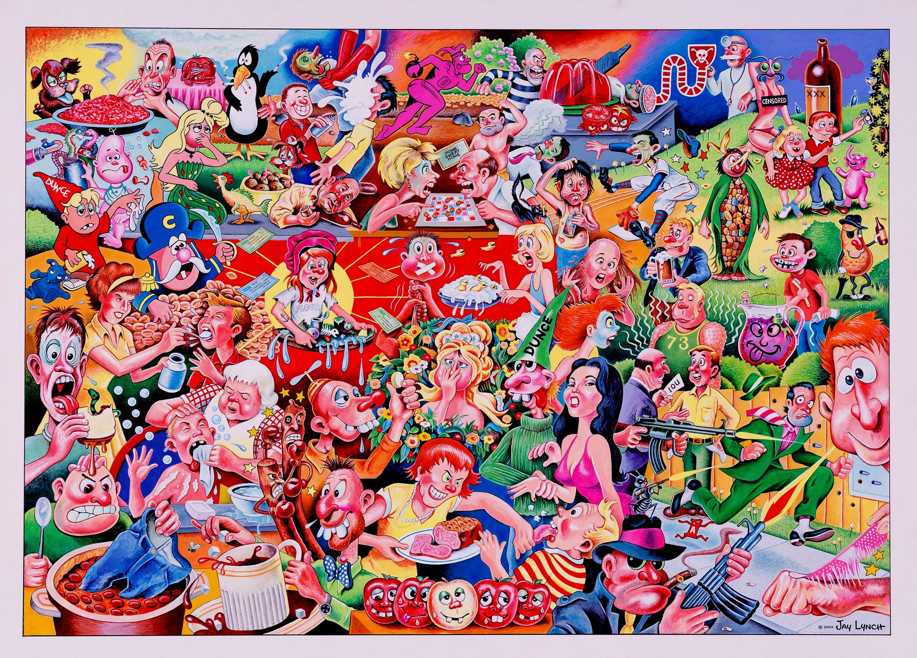 HUGE CLASSIC 'Wacky Packages' Poster Painting With over 50 Classic Products Featured!