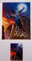 Batman: Saga of the Dark Knight SkyBox Card #21 Painting 'NIGHTWING' (1994) Comic Art