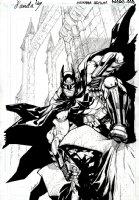 Batman Arkham Asylum Batman Promo Cover (2009) Comic Art