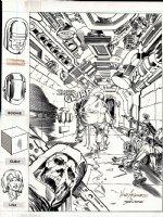 Next Man #5 Cover (1985)  Comic Art
