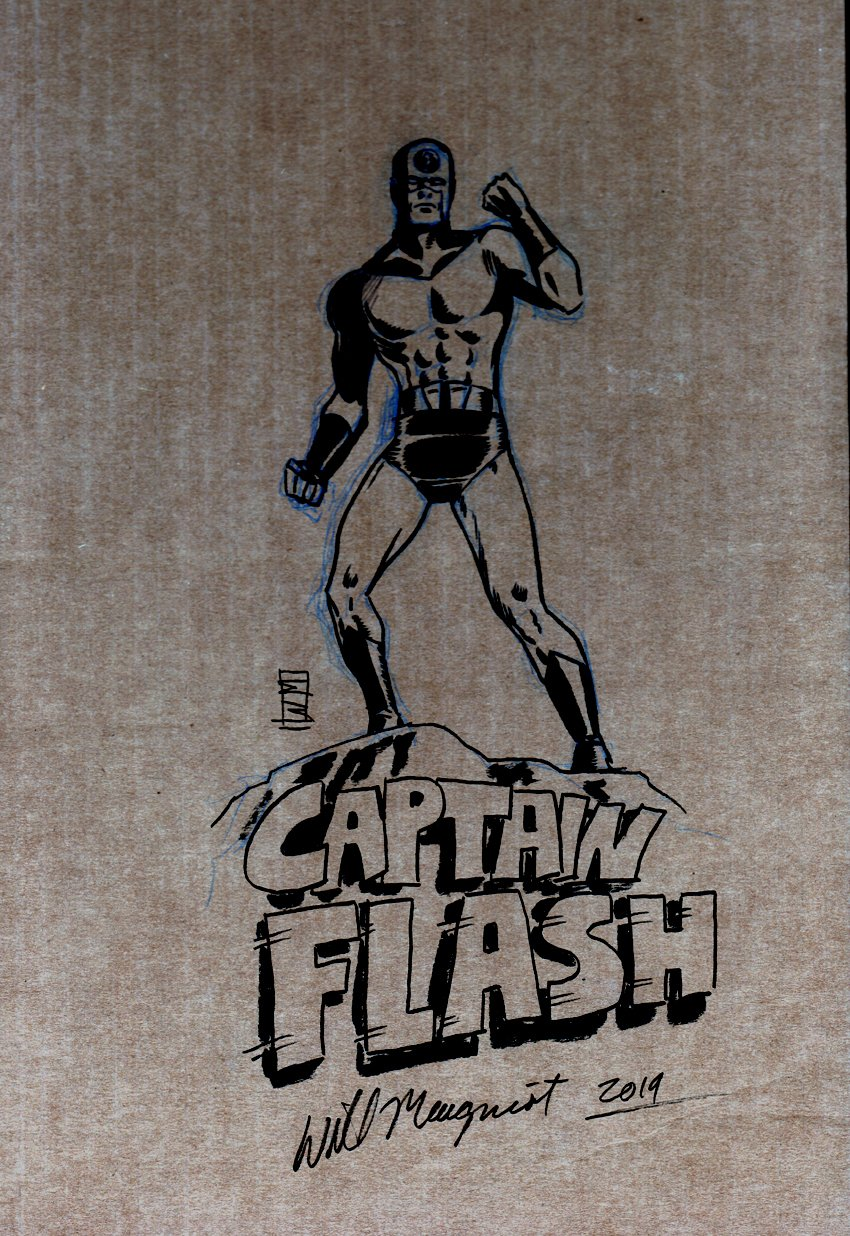 Captain Flash Pinup