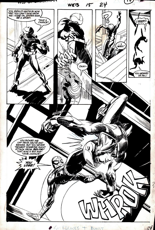 Web of Spider-Man #15 p 15 SPLASH (Spider-Man Vs VERY FIRST Chance!) 1986