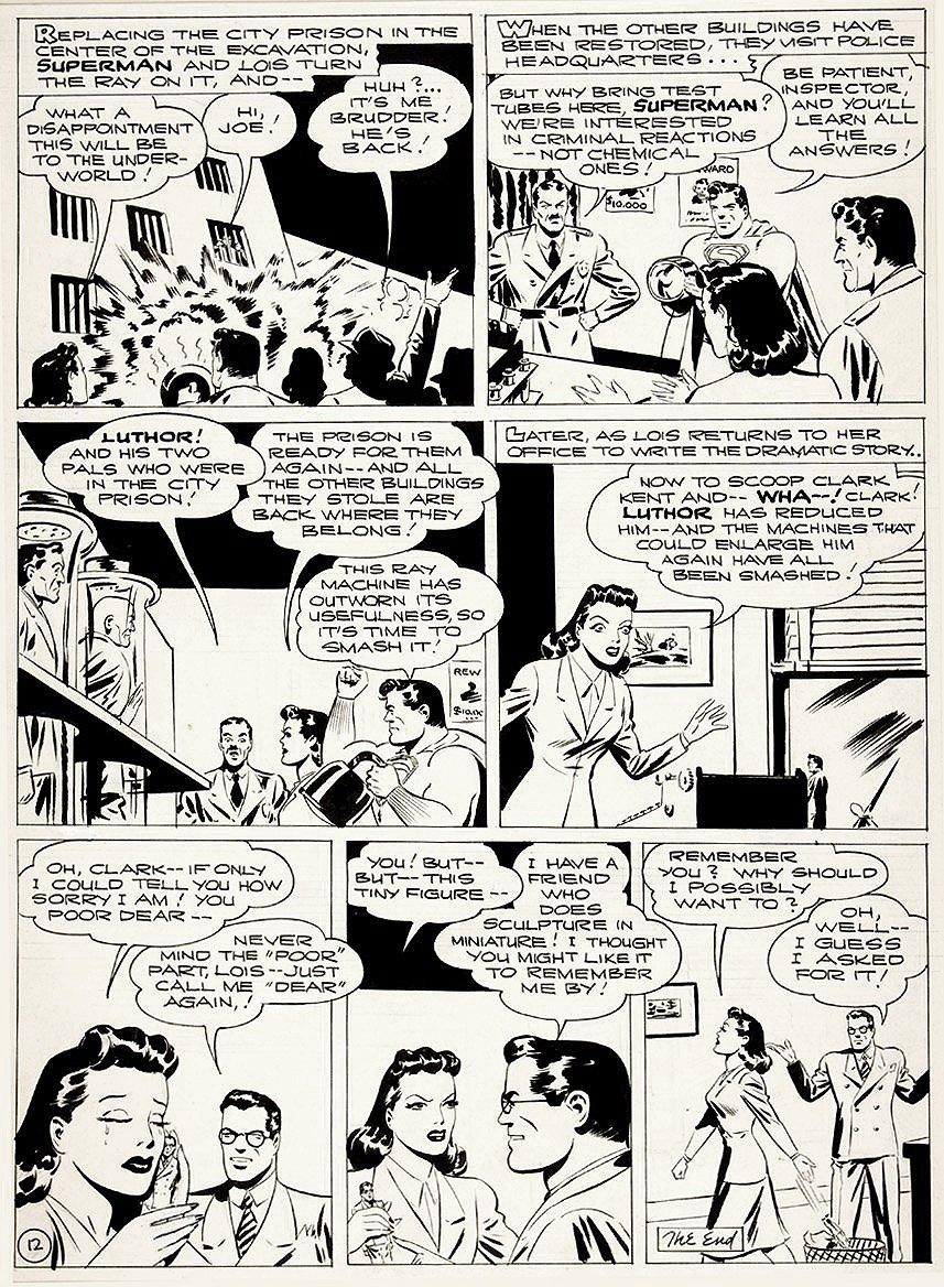 Golden Age 1944 Superman P 12 (Large Art)
