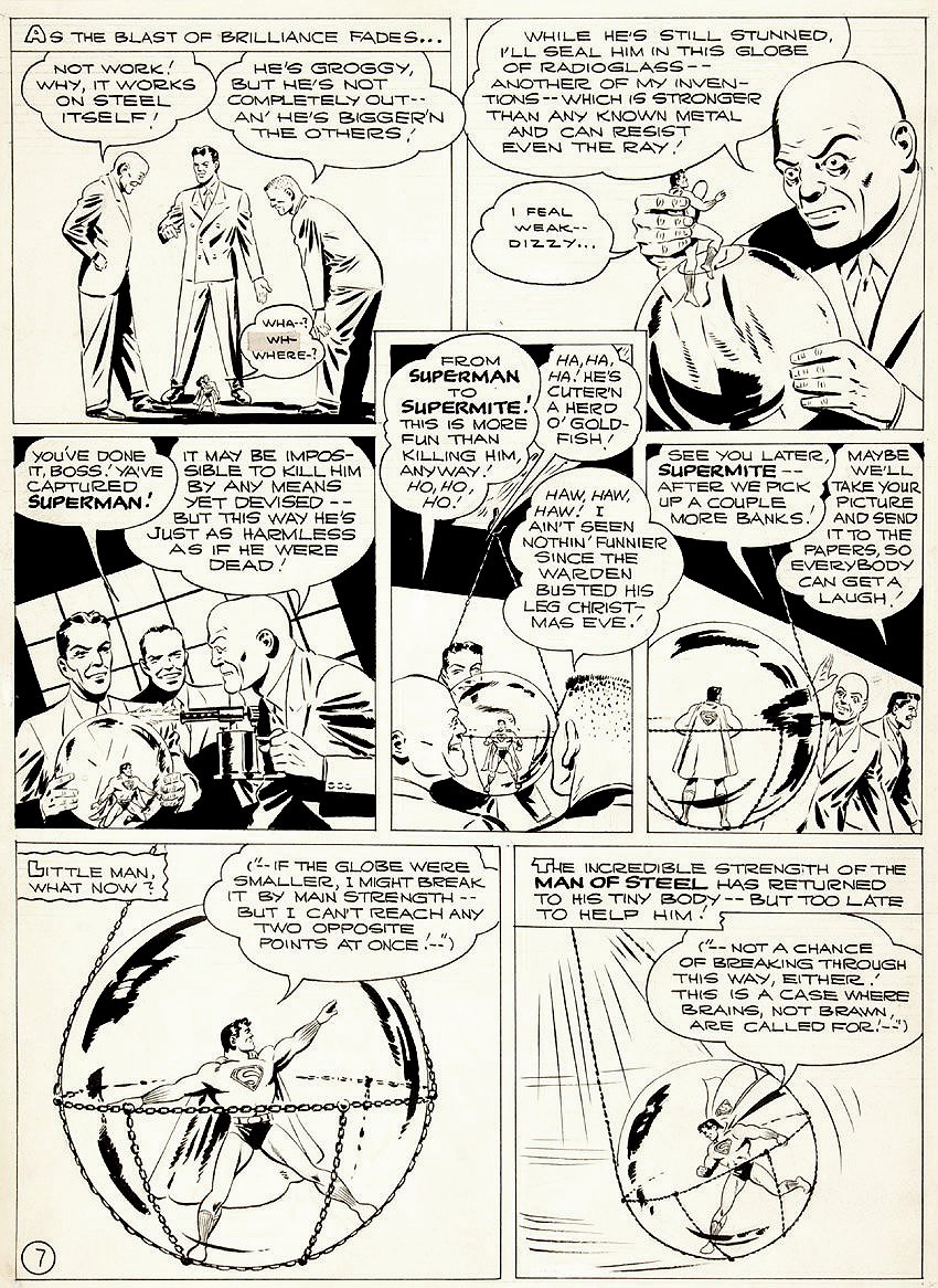 Golden Age 1944 Superman P 7 (Large Art)